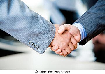 stretta di mano, businesspeople