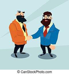 stretta di mano, concetto, affari, accordo, due, uomo affari, scossa mano, uomo