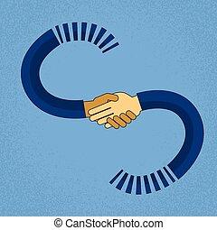 stretta di mano, concetto, affari, astratto, africano, accordo, mano, miscelare, americano, corsa, uomini affari, scuotere