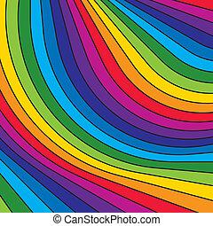 stripes., arcobaleno, astratto, colorito, vector.