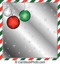 strisce, verde, ornamenti natale, rosso