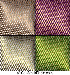 strisce, vettore, sfondi, diagonale, collezione