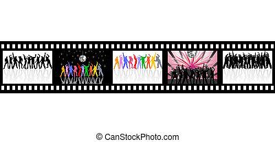 striscia, festa, film
