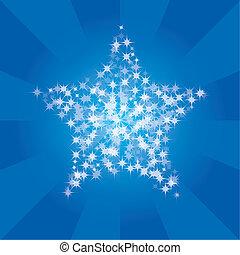 striscia, fondo, stelle, astratto