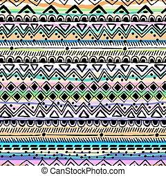 striscia, mano, disegnato, tribale