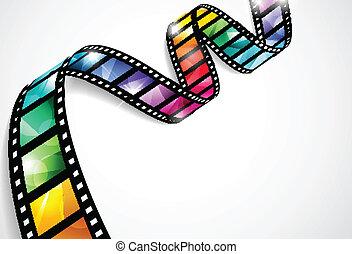 striscie, colorito, film