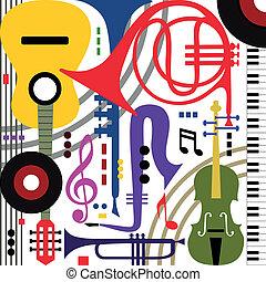 strumenti, astratto, musicale