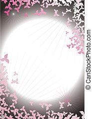 struttura, astratto, cielo, petali, fondo, notte