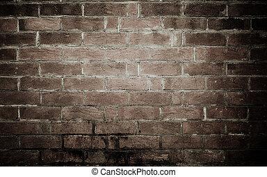 struttura, fondo, vecchio, parete, mattone