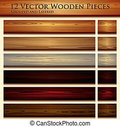 struttura legno, fondo, illustrazione, seamless