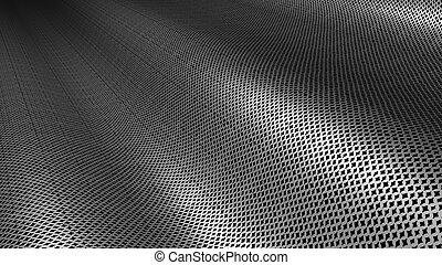 struttura, metallo, argento, fondo