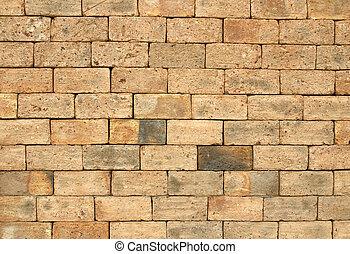 struttura, muro di mattoni, fondo