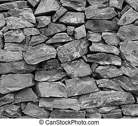 struttura pietra, fondo, parete