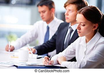 studenti, diligente, affari