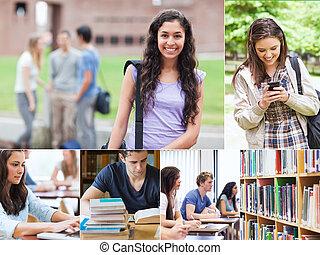 studenti, fotomontaggio