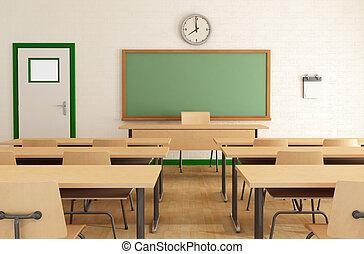 studenti, senza, classe