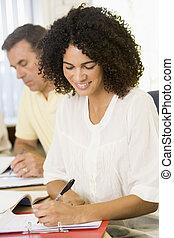 studenti, studiare, adulto, focus), (selective, tavola
