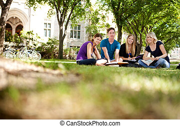 studenti, università, felice