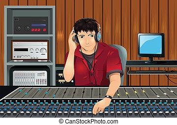studio musica, produttore