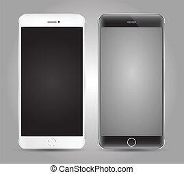 su., smartphone, beffare, vettore