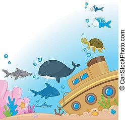 subacqueo, animali