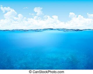 subacqueo, bagnasciuga, fondo
