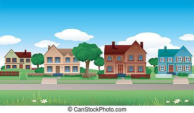 suburbano, paesaggio