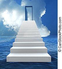 successo, affari, scala, rischio