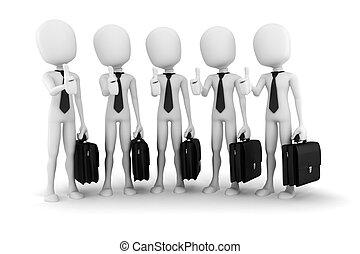 successo, fondo, business;, bianco, 3d, uomo