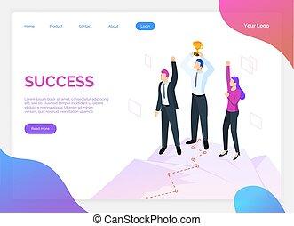 successo, luogo lavoro, premio, squadra, lavoro squadra