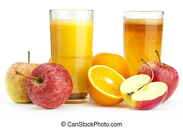 succo arancia, mela, contro