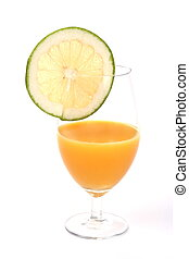 succo arancia, pompelmo, fetta