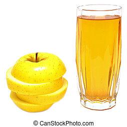 succo, fresco, mela, mele