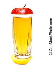 succo, lobulo, mela, fresco