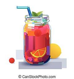 succoso, frutta, coctail