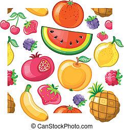 succoso, frutta, texture., seamless