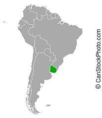 sud, mappa, uruguay, america