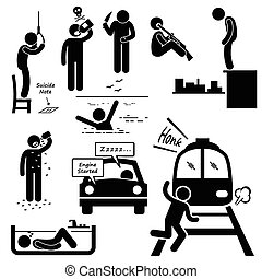 suicidio, commettere, suicida, metodi