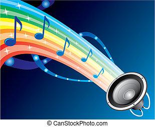 suono, arcobaleno