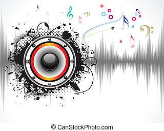 suono, astratto, musicale, fondo