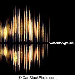 suono, astratto, waveform., background-shiny
