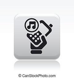 suono, isolato, illustrazione, telefono, singolo, vettore, icona