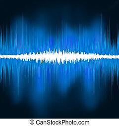 suono, oscillare, light., eps, onde, 8, splendore