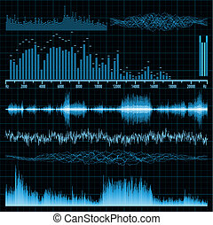 suono, set., eps, fondo., musica, onde, 8