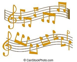 suono, vettore, testo, note, musicista, writting, illustrazione, colorfull, simboli, sinfonia, musica, melodia, audio