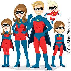 superhero, costume, famiglia