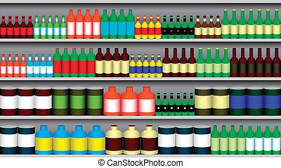 supermercato, mensole