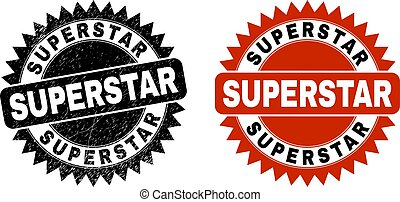 superstar, struttura, gomma, nero, rosetta, sigillo