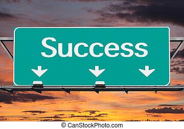 superstrada, successo, segno strada
