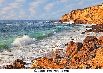 surf, oceano, potente